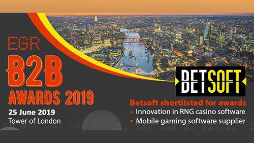 Betsoft nominé Meilleur logiciel de jeux mobiles EGR B2B Awards 2019