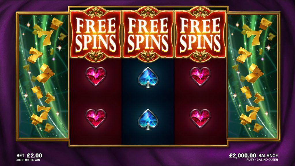 machine à sous Ruby Casino Queen tours gratuits
