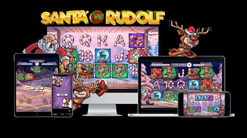 machine a sous mobile Santa vs Rudolf développeur NetEnt