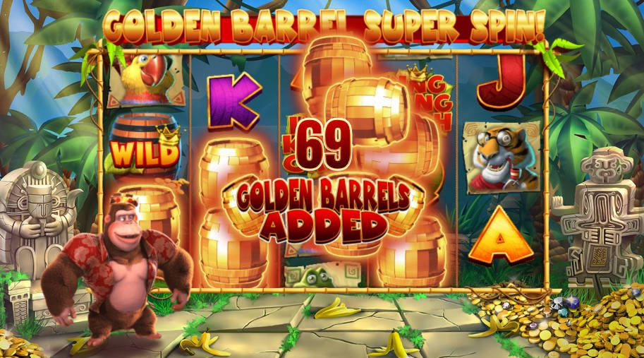 machine a sous mobile King Kong Cash Golden Barrels Super Spins