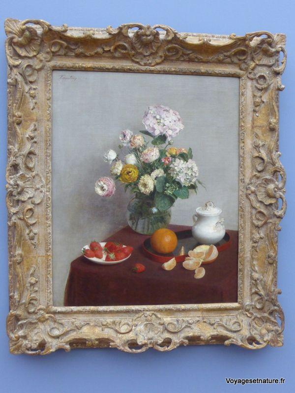 Fleurs d'été et fruits 1866
