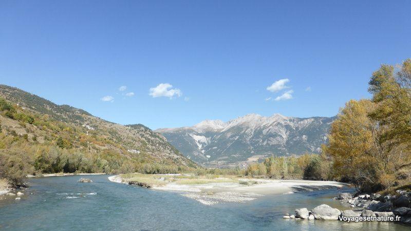 La Durance au pied du massif du Queyras