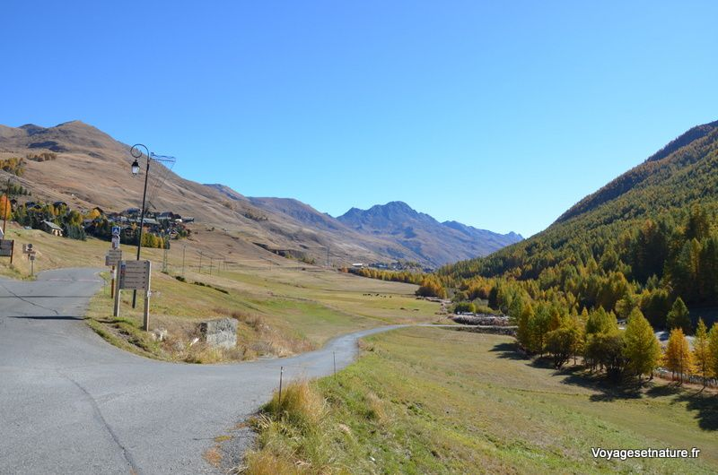 Route du col Agnel vers l'Italie