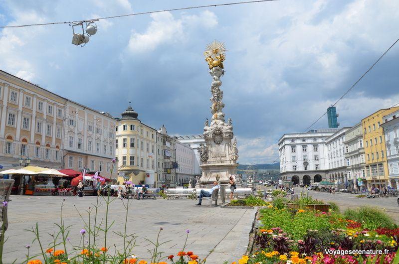 Colonne de la Trinité à Linz