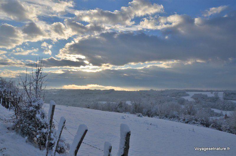 Les Chambaran sous la neige