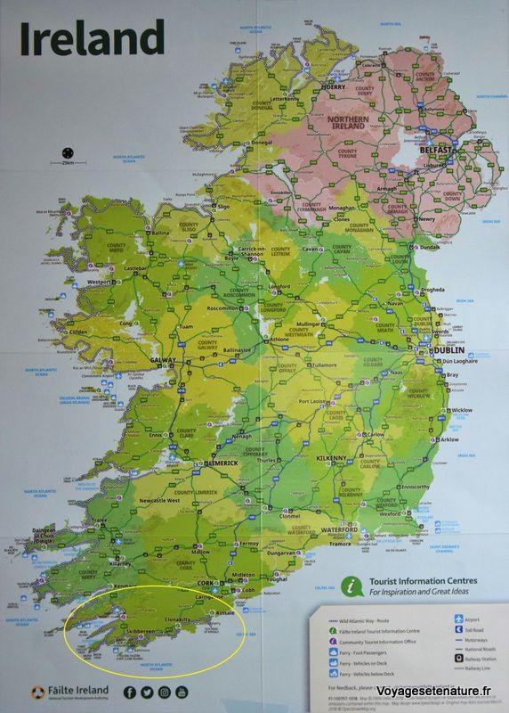 Les côtes sud de l'Irlande