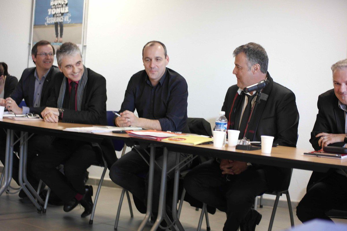 J. DENDIEVEL (URI), J.L. BANIOL, L. BERGER, P. FESQUET, P. MASSARD (FGA)