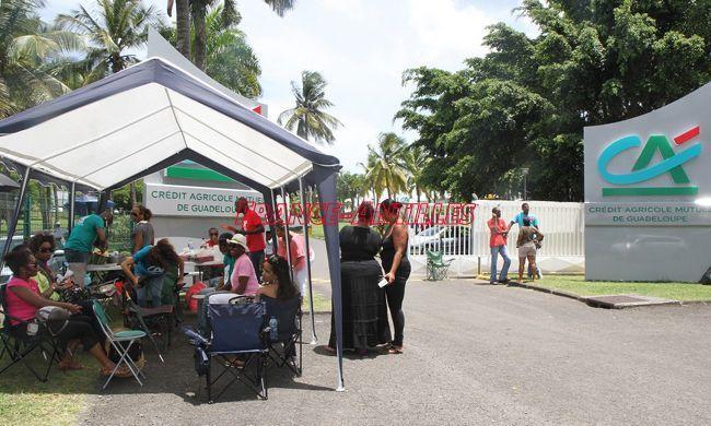 10e jour de grève au Crédit Agricole de Guadeloupe