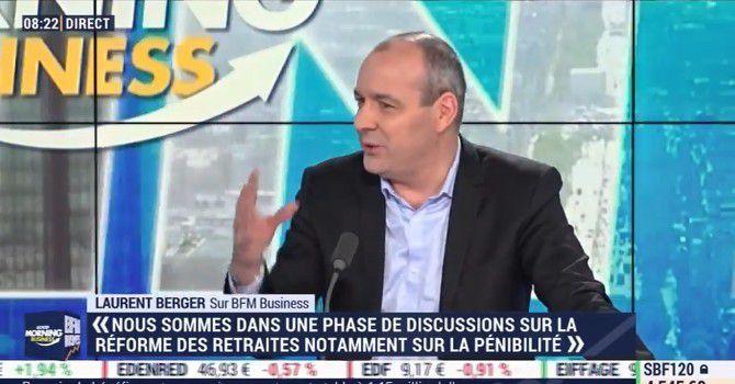 """""""Le système des retraites aujourd'hui est pétri d'injustices, d'inégalités"""", dénonce Laurent Berger (CFDT)."""