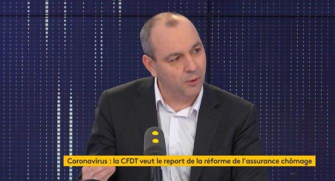 """Coronavirus : Laurent Berger demande des """"mesures de soutien aux travailleurs"""" et appelle à """"renoncer"""" à la réforme de l'assurance-chômage"""