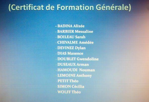 Seconde cérémonie de remise des diplômes à l'EREA François Georgin