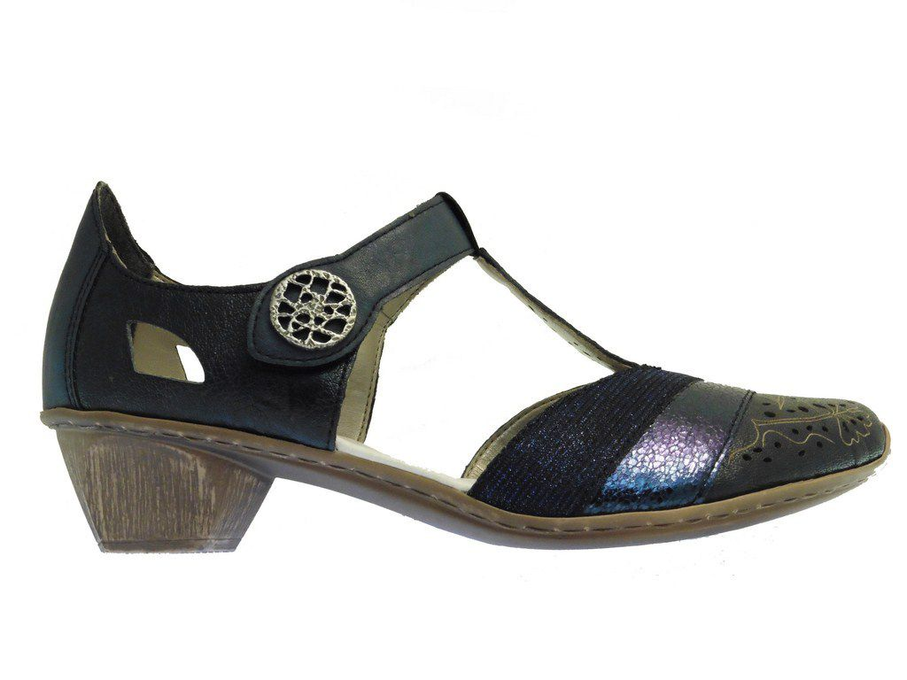RIEKER 49751-14 Bleu. Chaussures confort. Paris.