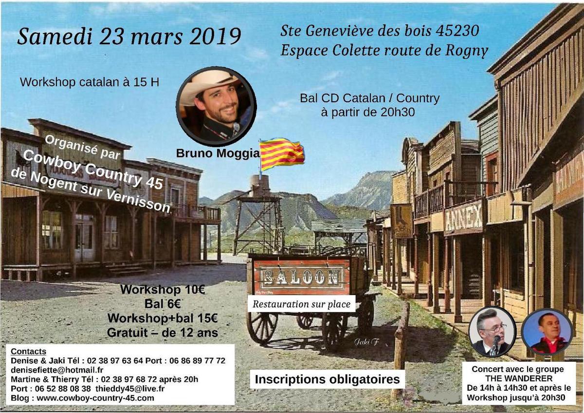 Prochain bal de Cowboy Country 45 le samedi 23 mars 2019