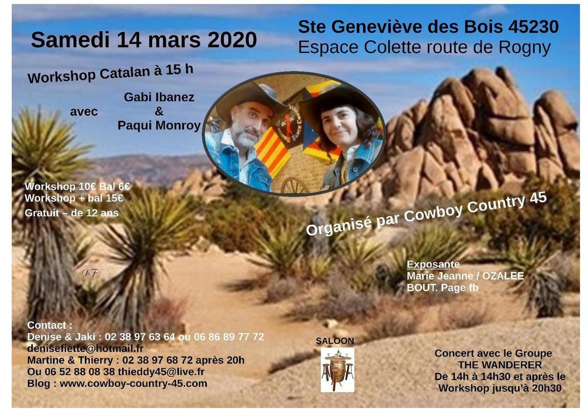 Workshop catalan et bal avec Gabi Ibanez & Paqui Monroy 14 mars 2020 Espace Colette Ste Genevieve des bois 45230