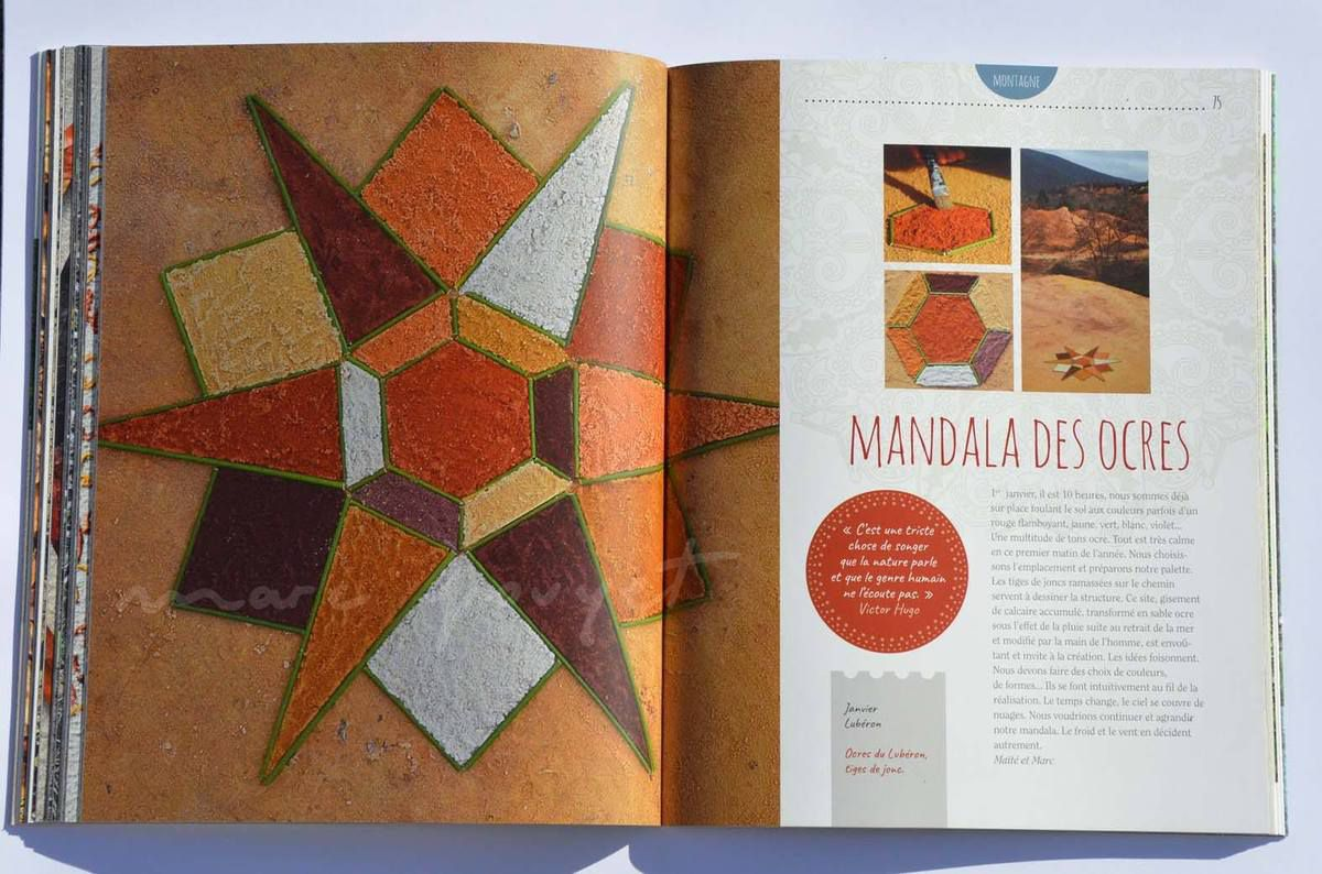 """Envie de mandalas nature"" éditions plume de carotte"