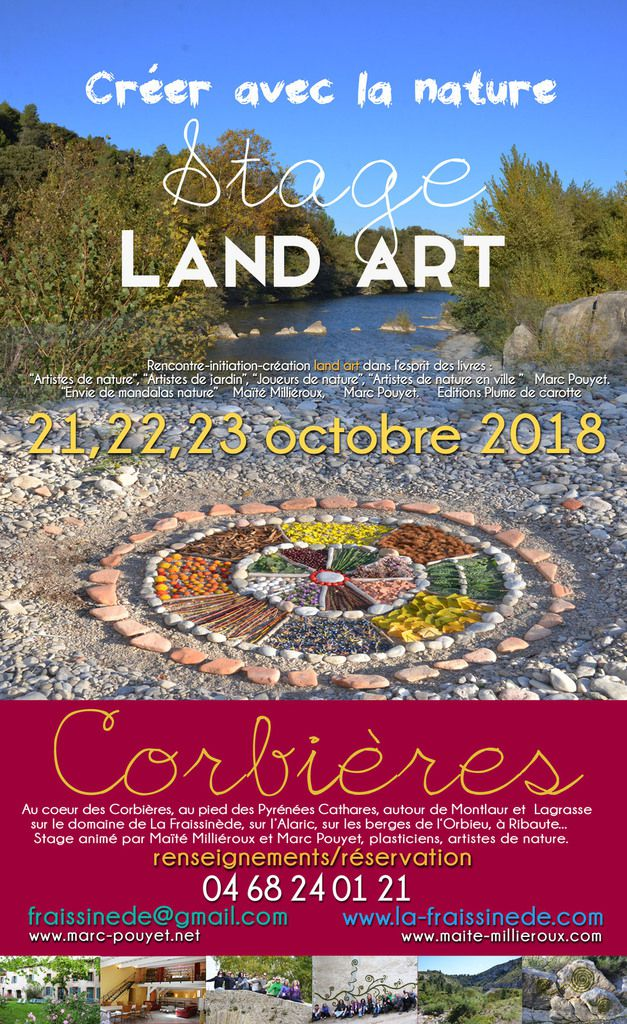 Les 21, 22 et 23 octobre stage land art .