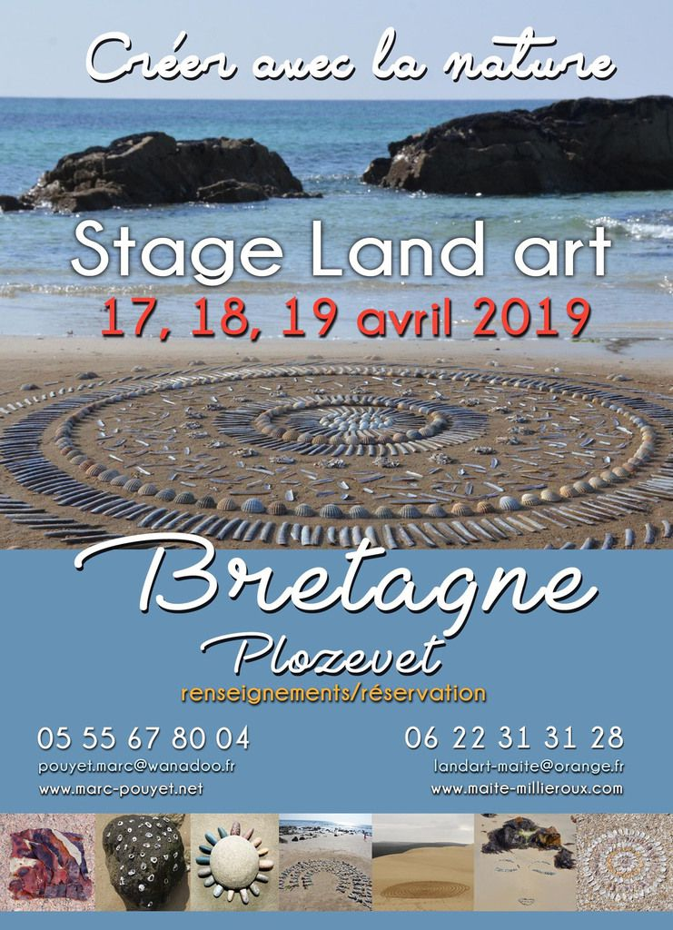 stage land art en Bretagne