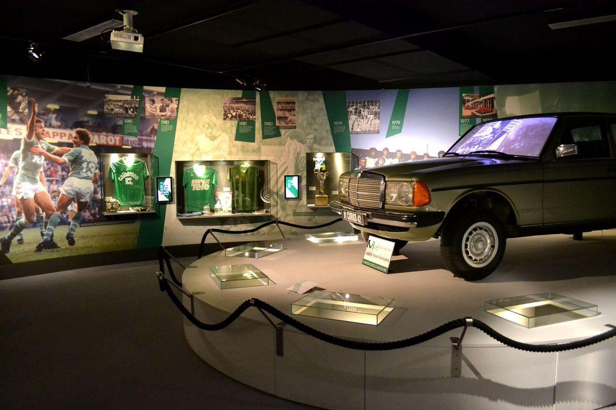 Le Musée des Verts au stade Geoffroy Guichard...