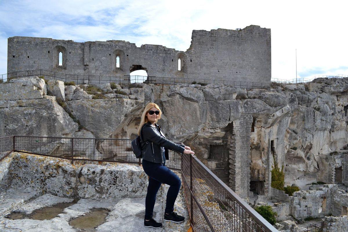 Partie troglodyte du château des Baux...