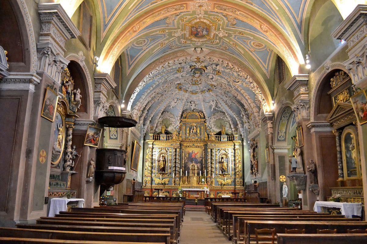 L'église Notre-Dame de l'Assomption à Valloire...