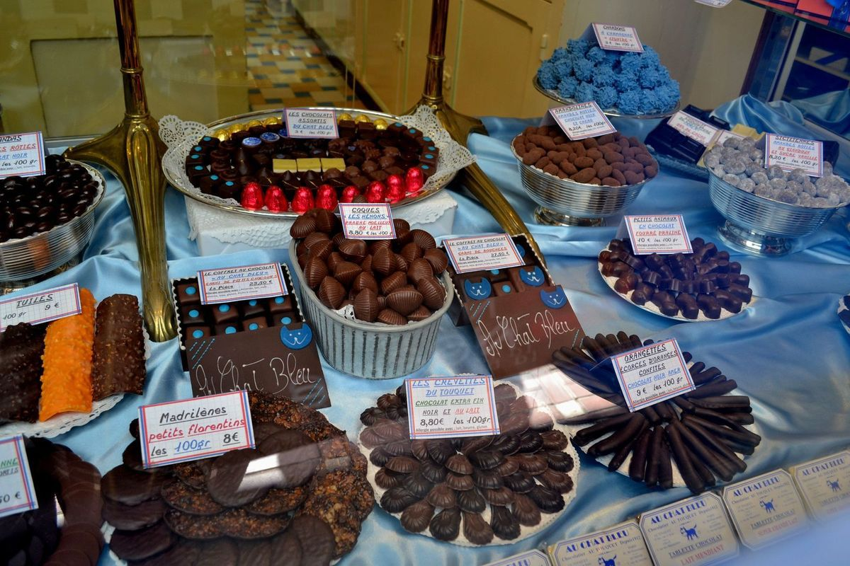 La chocolaterie LE CHAT BLEU...