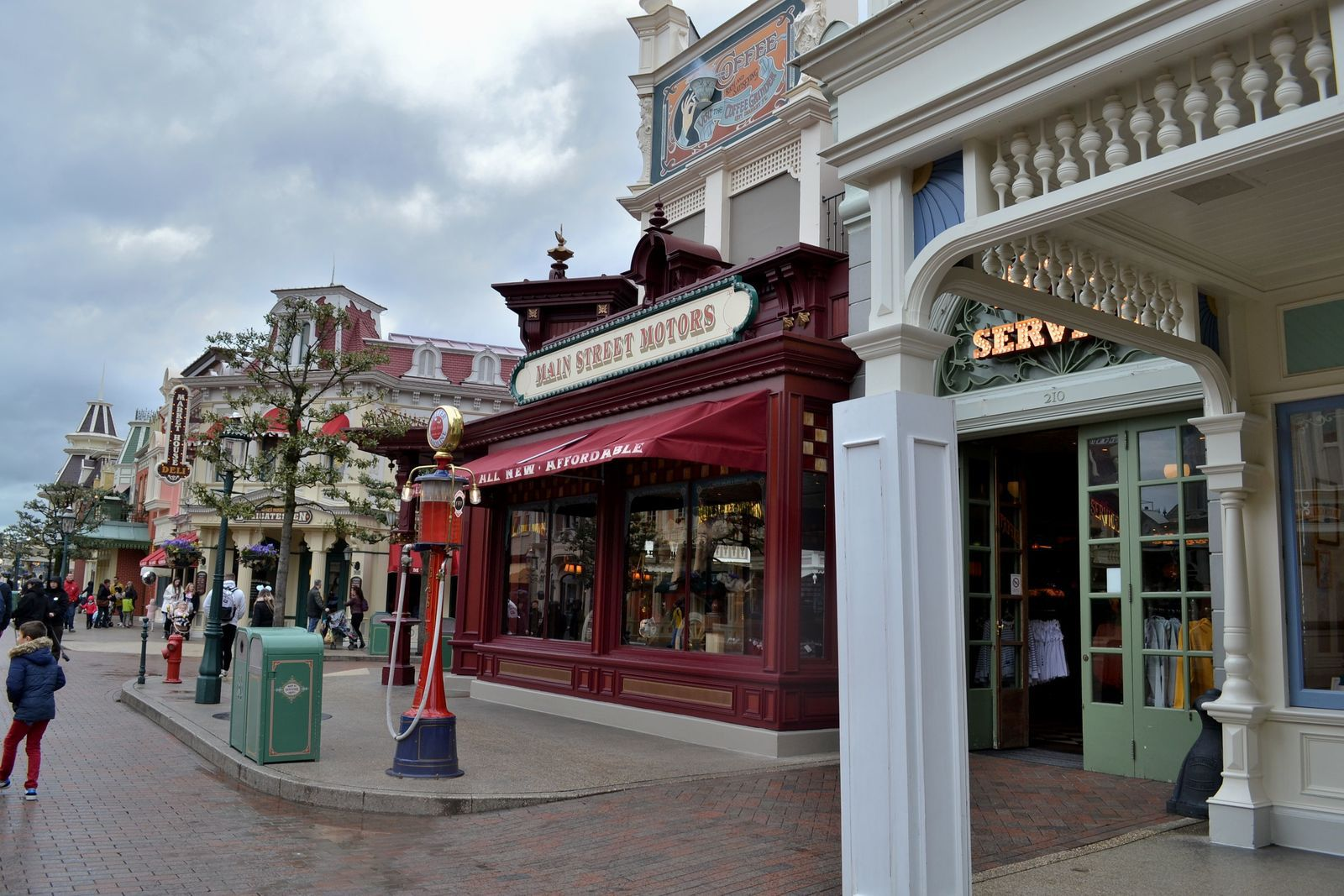 Main Street USA, l'entrée du parc de Disneyland Paris...