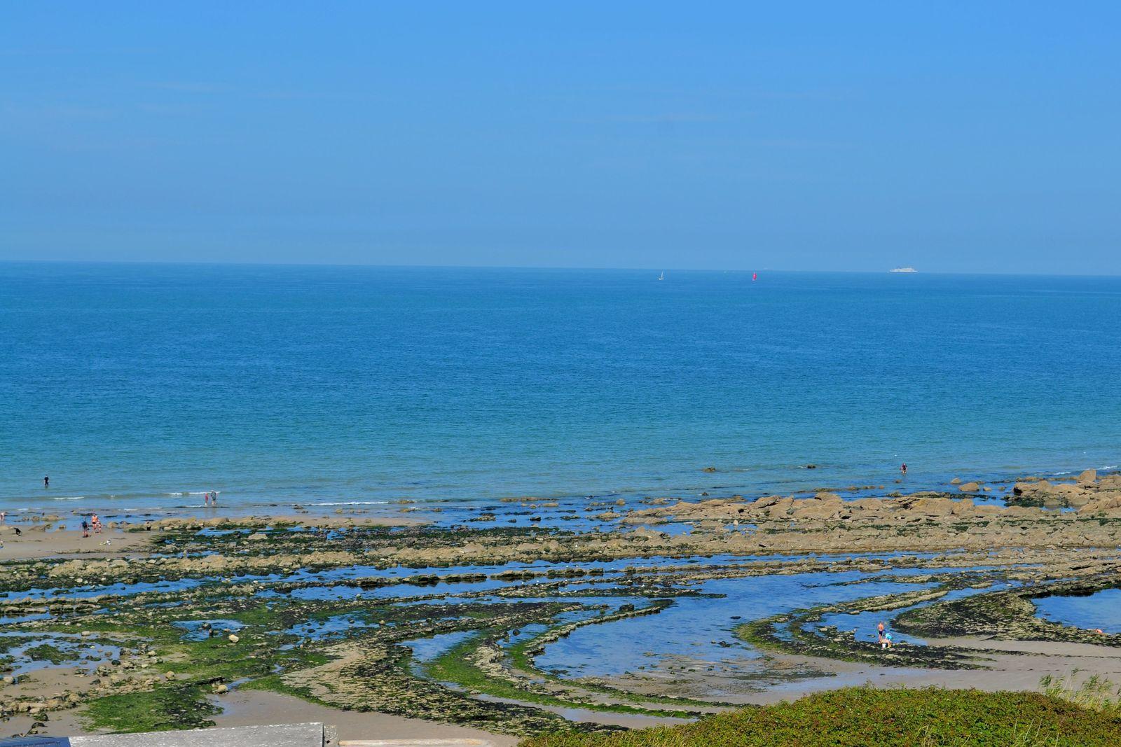 Après avoir fait un tour au Cap Gris-Nez, nous avons poussé une pointe, mon Daddy et moi, sur le sentier du GR 120 en direction du Cap Blanc-Nez, jusqu'à la Pointe de la Courte Dune, d'où il y a une vue magnifique sur la Baie de Wissant, qui se situe entre les deux Caps Gris-Nez et Blanc-Nez. Je rêve de faire le GR 120 (également appelé le GR du Littoral) un jour! Il s'agit d'un sentier de Grande Randonnée (comme son nom l'indique) qui longe toute la Côte d'Opale, en partant de la frontière belge jusqu'à Berck Plage pour un total de 175 kilomètres... Ou au moins de faire la partie reliant les deux Caps, mais nous n'avions pas le temps de le faire ce jour-là. Mais qu'à cela ne tienne, ce n'est que partie remise!