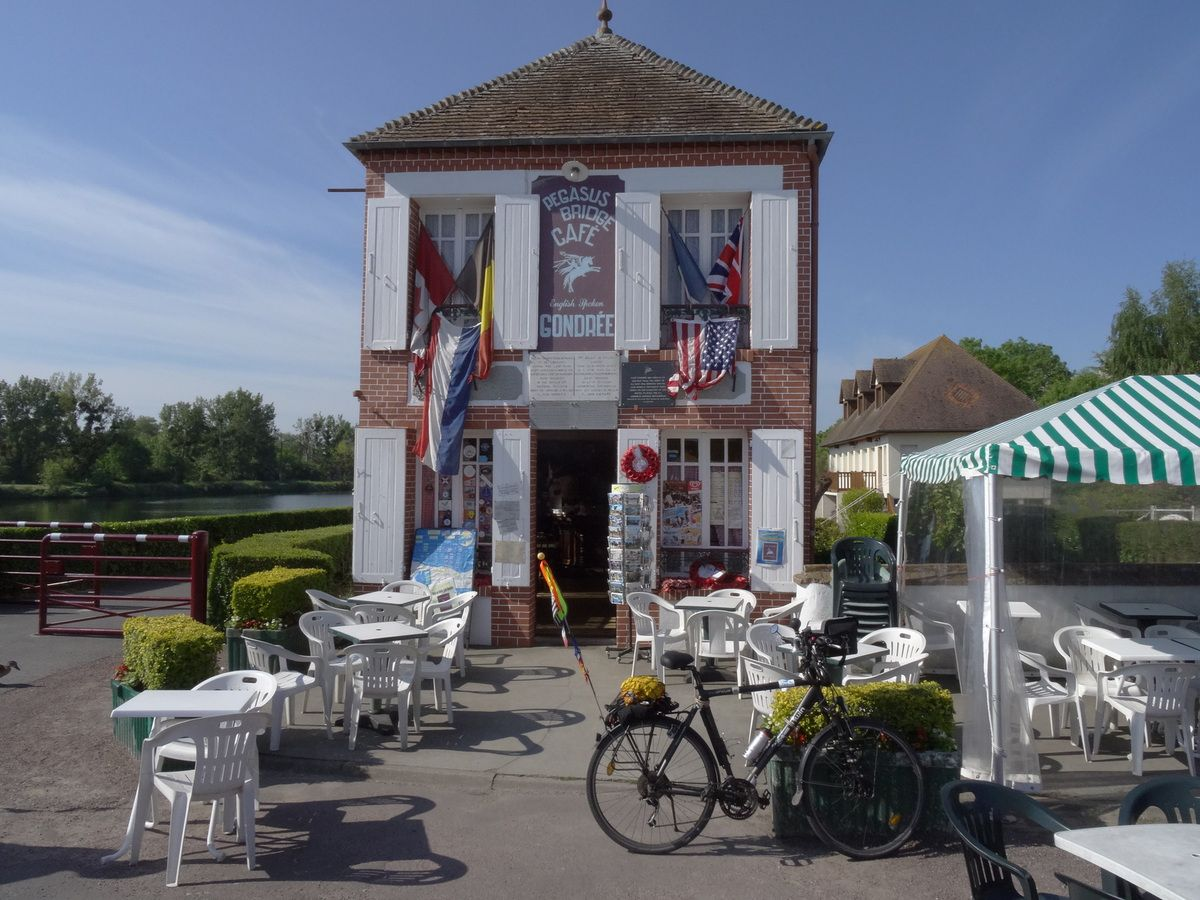 The 'Café Gondrée' at Pegasus Bridge, Bénouville.