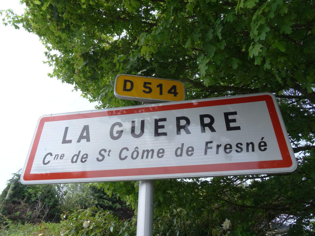 """La Guerre"", a village on the road to Arromanches."