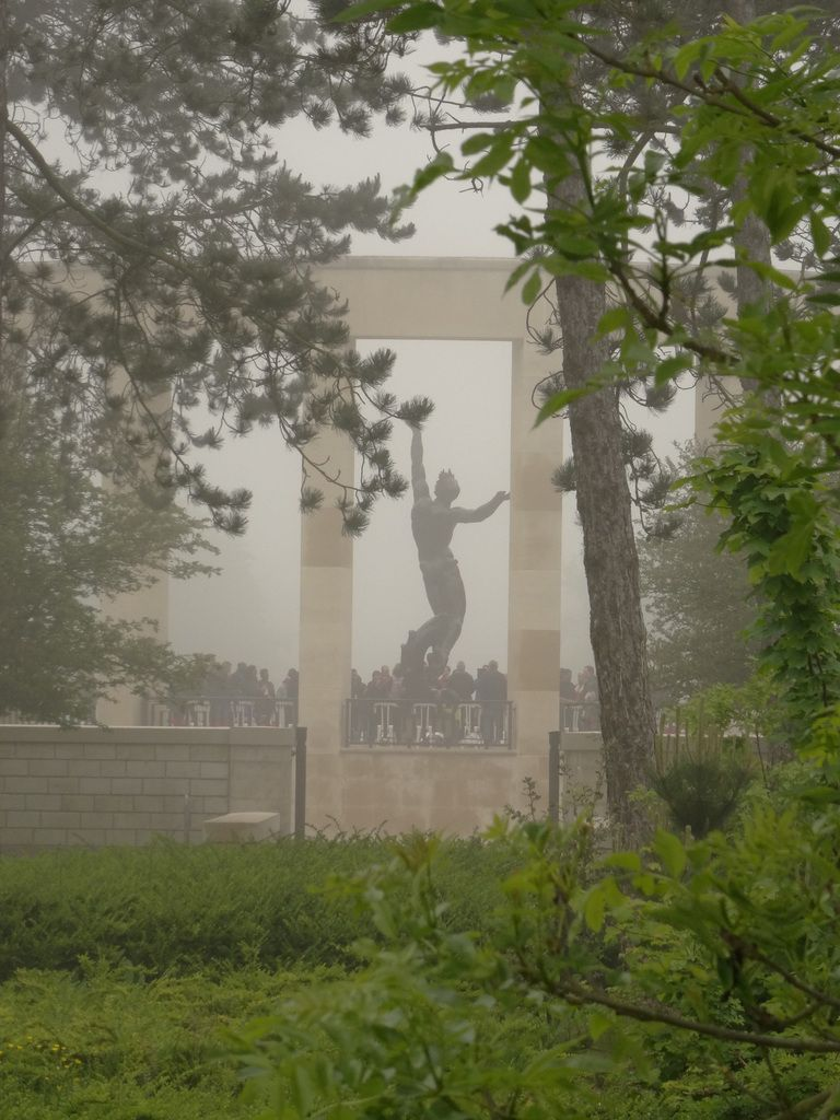 Fog blurs the memorial...as time heals..