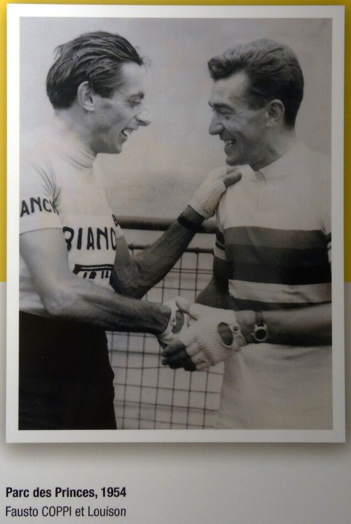 1954. Two cycling giants, Louison Bobet and Fausto Coppi.