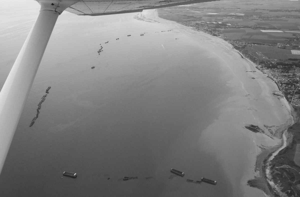 Remains of the artificial harbour..