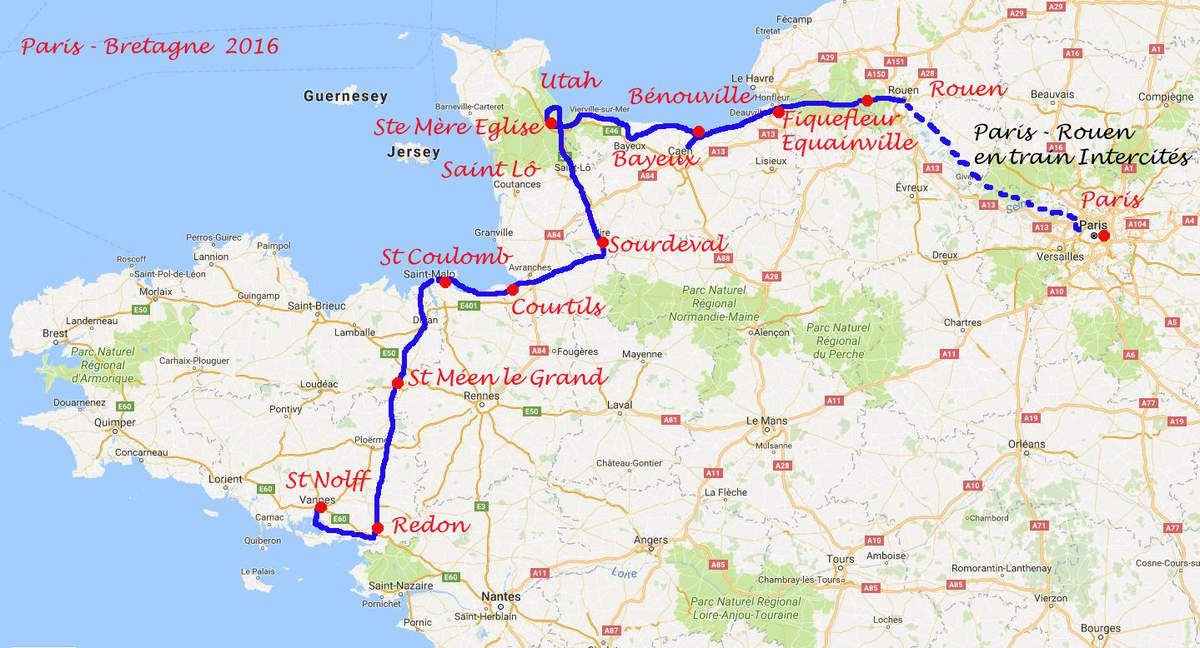 Cycling along D-Day Beaches and through Brittany