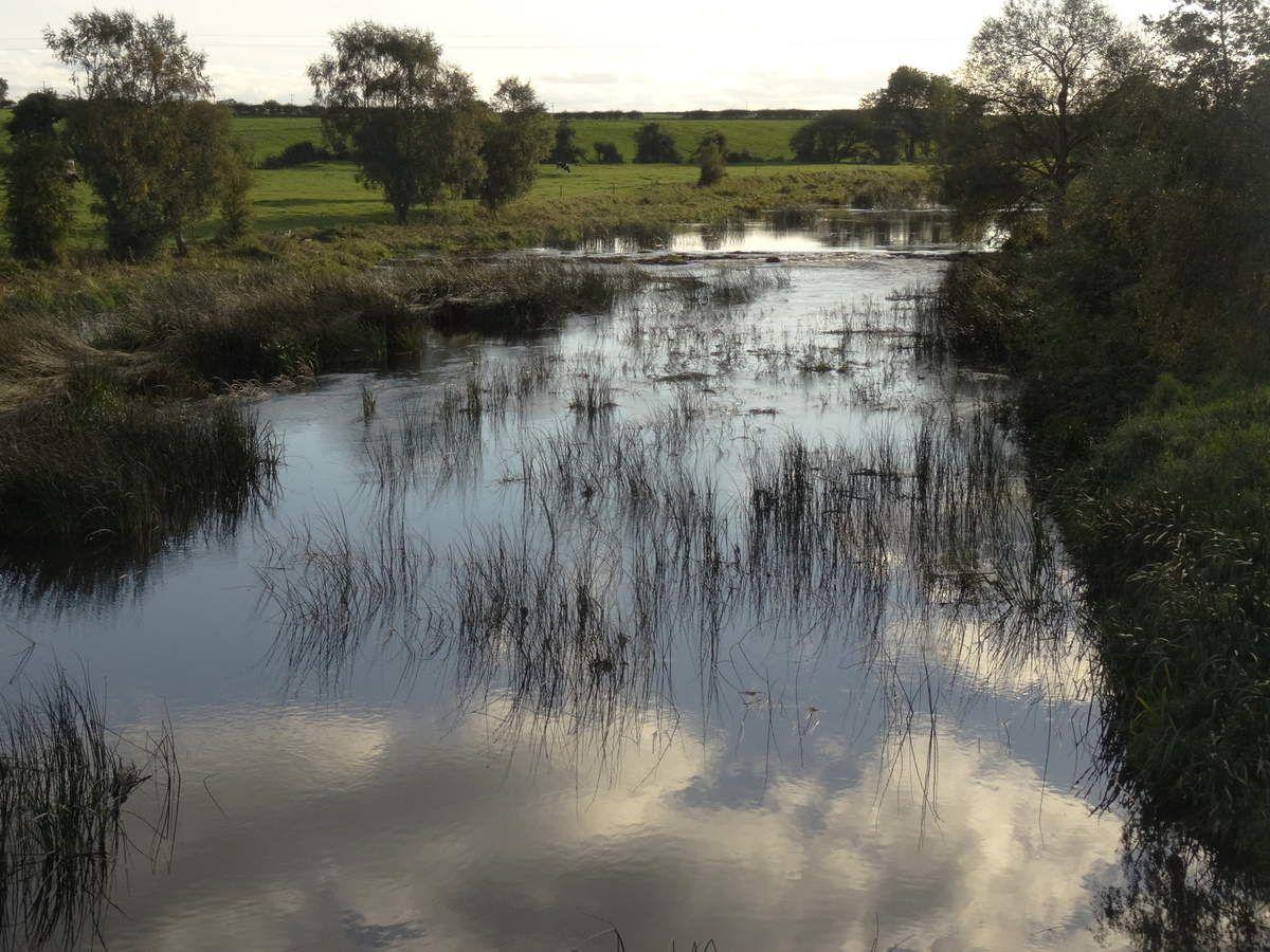 La rivière du Moulin au couchant.