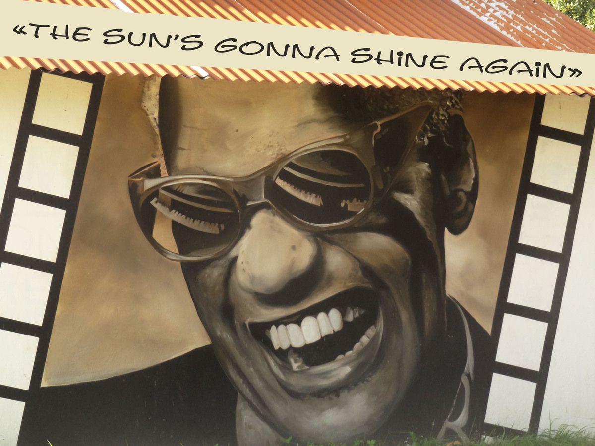 Street art à l'entrée de Morlaix... et titre de chanson de Ray Charles fort à propos !