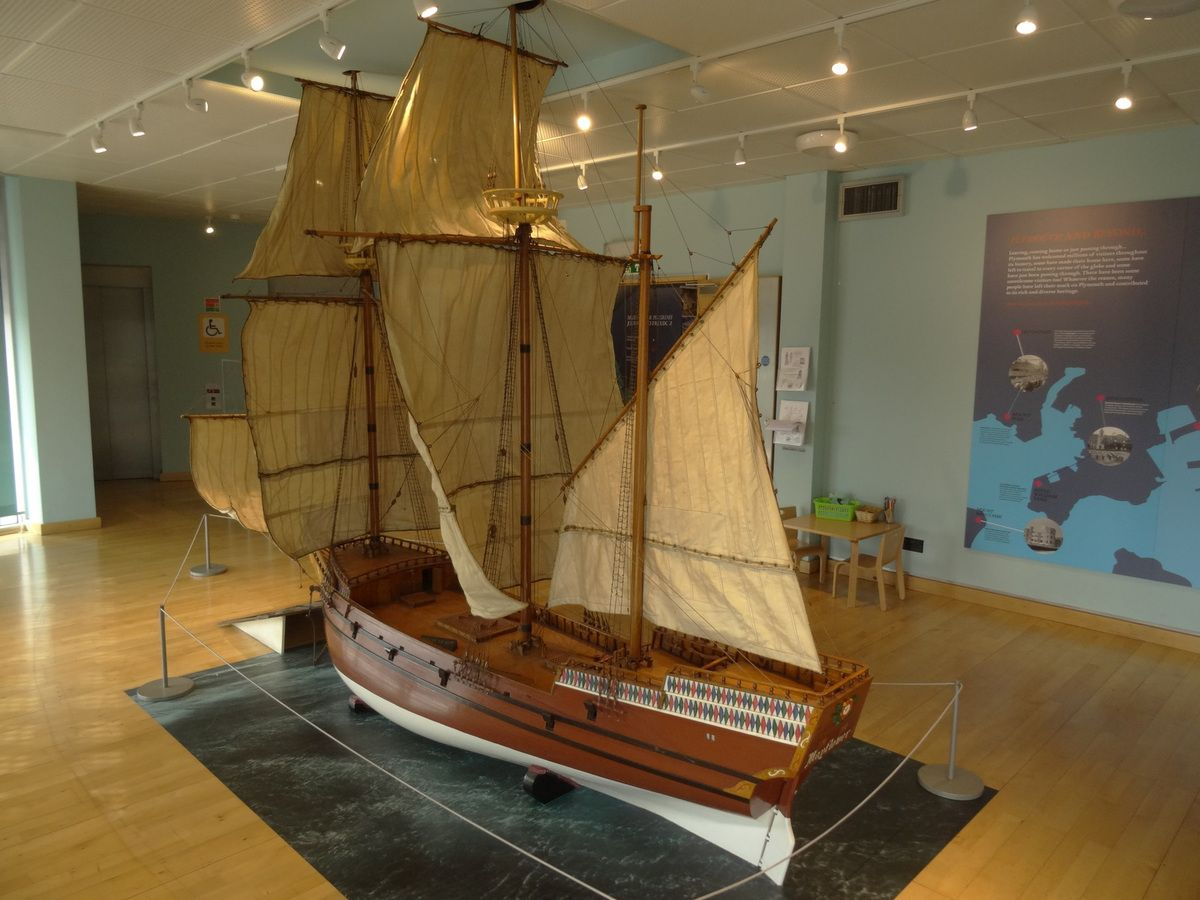 Une maquette du Mayflower