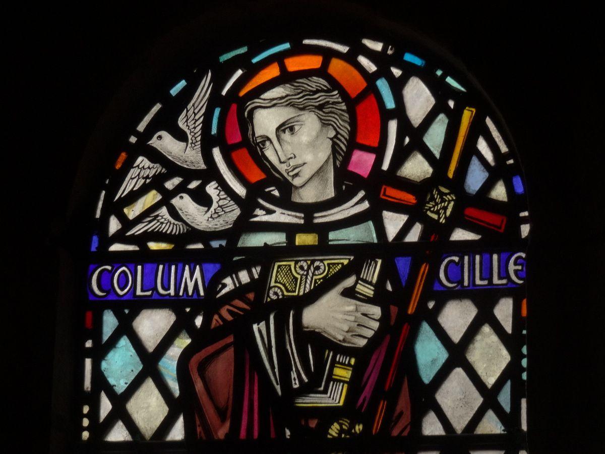Vitrail de Saint Columba.
