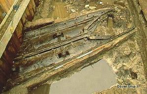 Durant l'excavation du Dover Boat (photo internet)