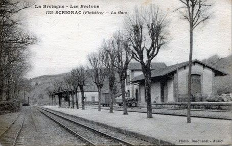 La Gare de Scrignac, il y a bien longtemps. Photo Internet.