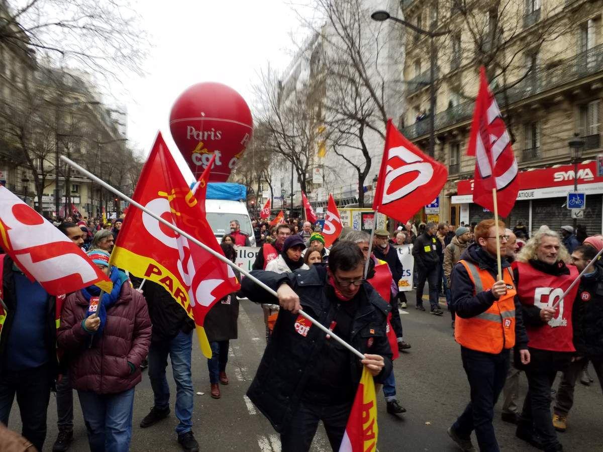 Manifestation contre le projet de réforme des retraites
