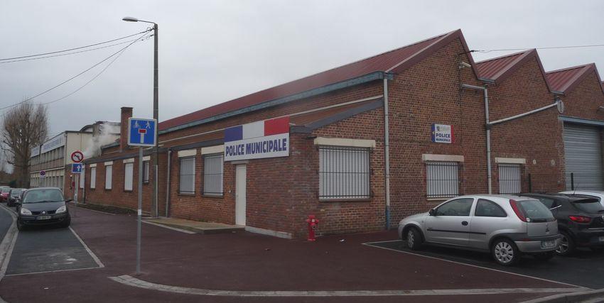 Police Municipale : Bureaux installés rue des Prés Halluin - Décembre 2018.