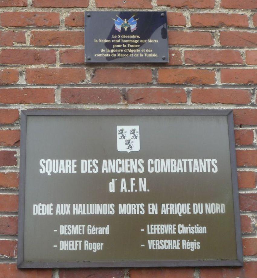 En 1990 : Inauguration du Square des AFN d'Halluin - Mai 2017.