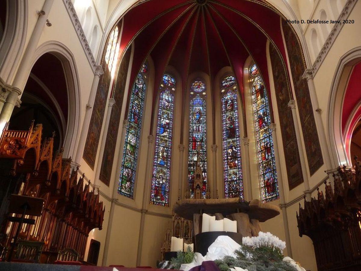Le choeur de l'Eglise Saint Hilaire Halluin centre - Janvier 2020.