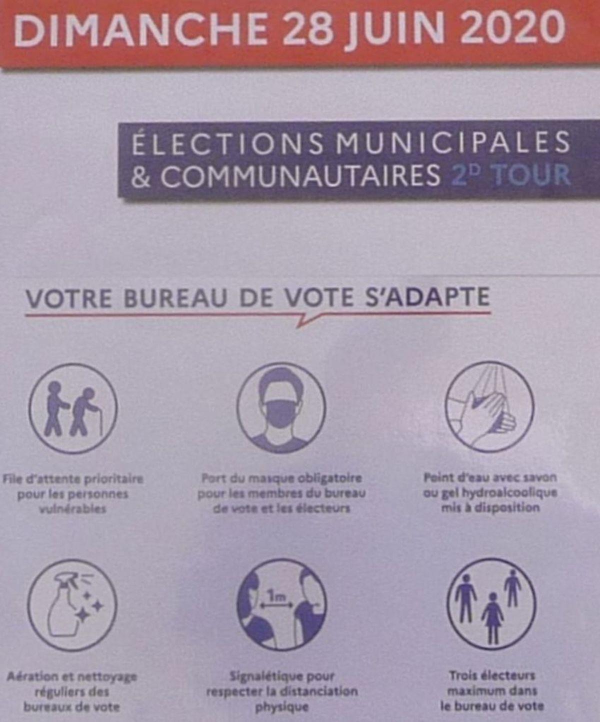 Bureaux de Vote : Mesures Barrières ce 28 Juin 2020.