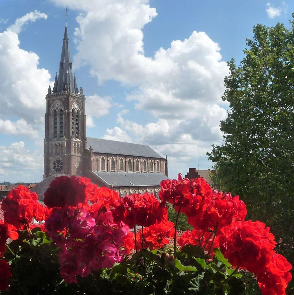 Eglise Saint Hilaire Halluin centre - Juillet 2020.