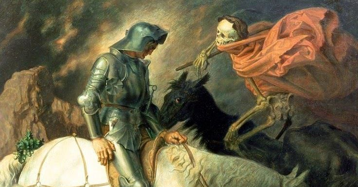 """Knight Approached by Death"", Theodor Baierl (1881 - 1932)"