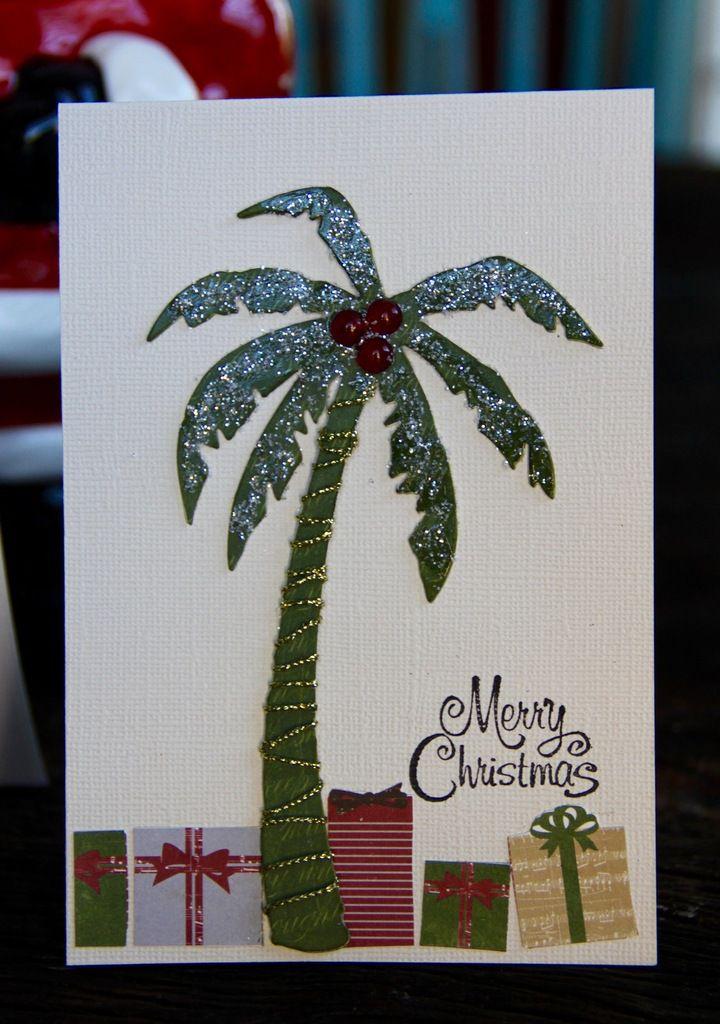 """3 cartes """"Noël sous les cocotiers"""" ..."""