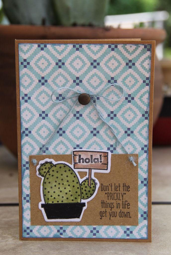 Cartes avec cactus&pots de fleurs avec messages...