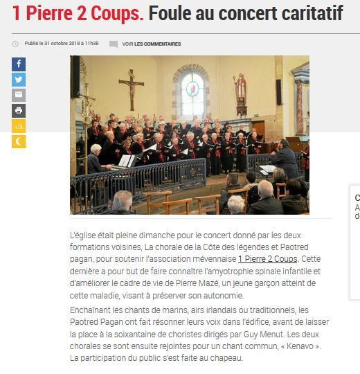 article paru dans le journal LE TELEGRAMME