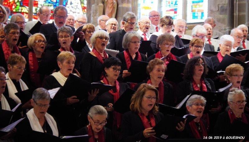 16.06.2019 Eglise de GOUESNOU, concert par la Chorale de la Côte des Légendes et Le Choeur Harmonia de GOUESNOU